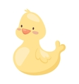 Rubber duck toy cartoon bath yellow character flat vector image