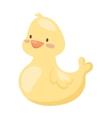 Rubber duck toy cartoon bath yellow character flat
