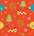 seamless pattern for kids vector image vector image