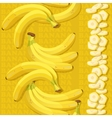 Seamless texture with ripe banana and slices vector image vector image