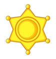 Sheriff star Icon Cap icon cartoon style vector image