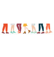 shoes on legs cartoon sport and fashion wear on vector image