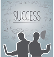 Silhouette people of Business vector image vector image