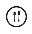 simple silhouette logo spoon and fork icons vector image vector image