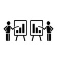 simple two black solid icon pictogram man vector image vector image