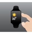 Smart Watch Flat design vector image vector image