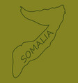 somalia map with waving flag of country vector image vector image