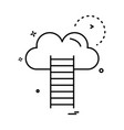 stairs cloud icon design vector image