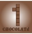 The number of bars chocolate One vector image vector image