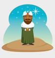 three magic kings baltasar cartoon vector image vector image