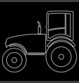 tractor the white path icon vector image vector image