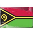 vanuatu national flag vector image vector image