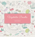 vegetable doodle pattern vector image vector image