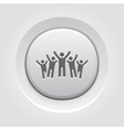 Victory Icon Grey Button Design vector image vector image