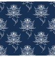 White floral paisley seamless pattern vector image vector image