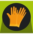 glove protection tool icon vector image