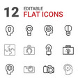 12 inspiration icons vector image vector image