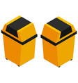 3d design for yellow trashcan vector image