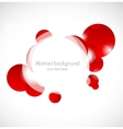 Abstract red background with circles vector image