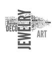 art deco jewelry text word cloud concept vector image vector image