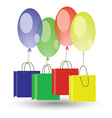 balloons and boxes vector image vector image