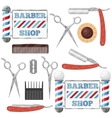 Barber shop tools vector image