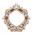 baroque frame line art french luxury rich vector image vector image