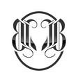 bb initials classic royal fox emblem design