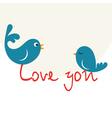 Beautiful birdie in love