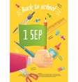 Big sale of stationery for school and handmade vector image vector image