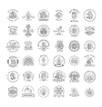 Bitcoin logo templates big set Cryptocurrency vector image