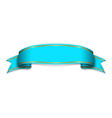 blue satin empty ribbon blank banner design vector image vector image
