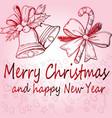 christmas poster beautiful decor vector image