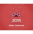 Christmas snowflake red background vector image vector image