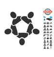 collaboration icon with free bonus vector image vector image