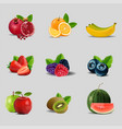 creative healthy mix fruit for a low calorie vector image vector image