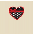 Cute background with vintage hearts vector image vector image