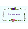 Cute hand drawn floral frame vector image
