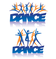Dance sign with dance icons vector image vector image