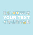 database word concepts banner vector image