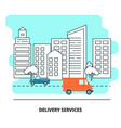 delivery services banner template in flat style vector image vector image