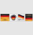 deutschen einheit day banner set realistic style vector image