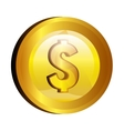 dollar money gold icon vector image