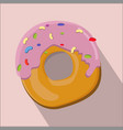 donut isolated flat style vector image vector image