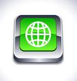 Earth 3d button vector image vector image