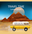 egypt summer travel bus camping trailer vector image vector image