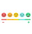 emoji feedback emotions scale vector image vector image