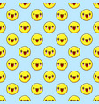 emoji seamless pattern on a blue background vector image vector image