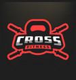 fitness sport logo emblem vector image