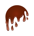 Flow down chocolate blot isolated on white vector image vector image